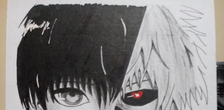 Anime Tokyo Ghoul Kaneki Drawing