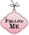 follow me pink vintage button copy