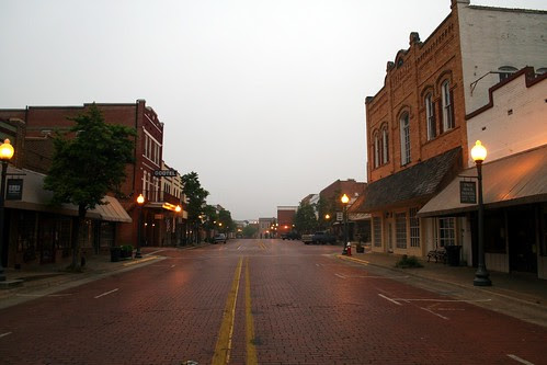 looking west down main street