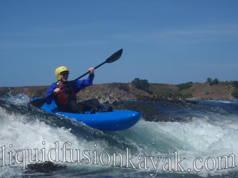 kayak, mendocino, rock garden, fort bragg, wave, surf