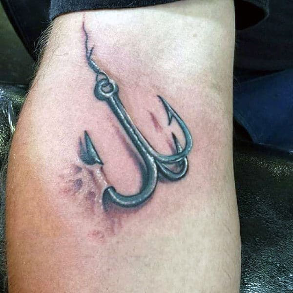 75 Fish Hook Tattoo Designs For Men - Ink Worth Catching