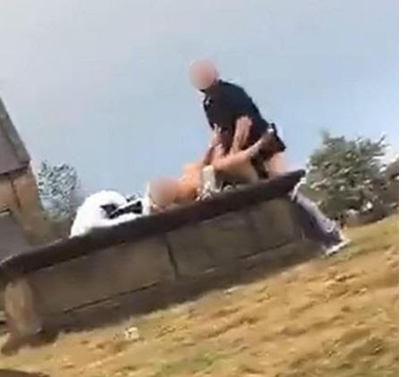 SHOCKING: Couple Caught Having Sex On Someone's Grave In Broad Daylight (See Photo)
