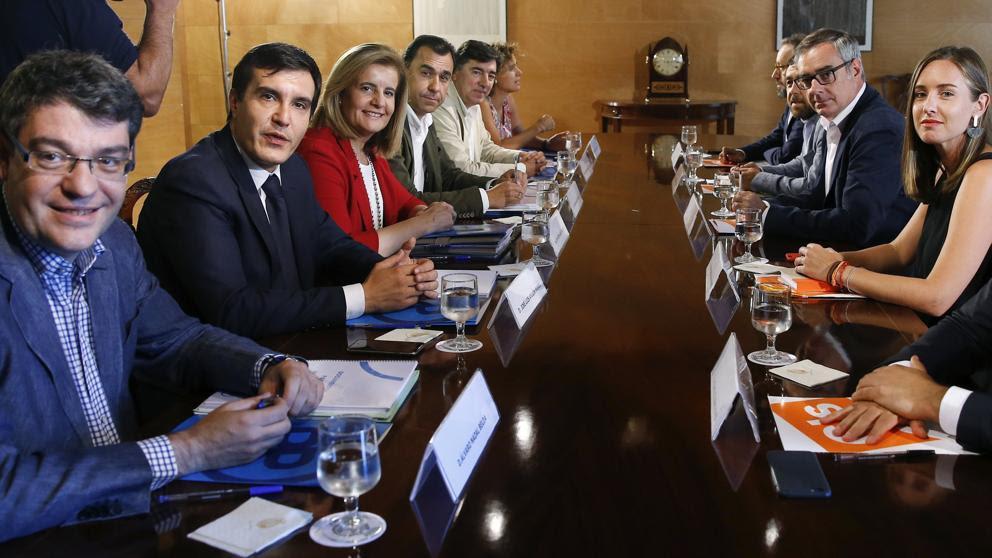 Resultado de imagen de PP y Ciudadanos pacto investidura