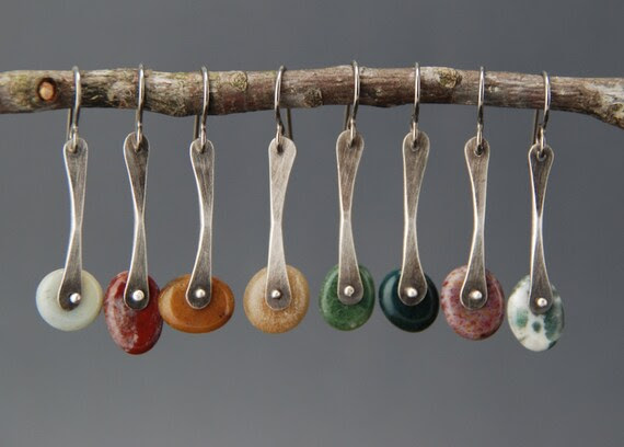 Single Pebble Earrings