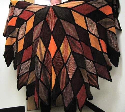 Autumnal Diamond Shawl