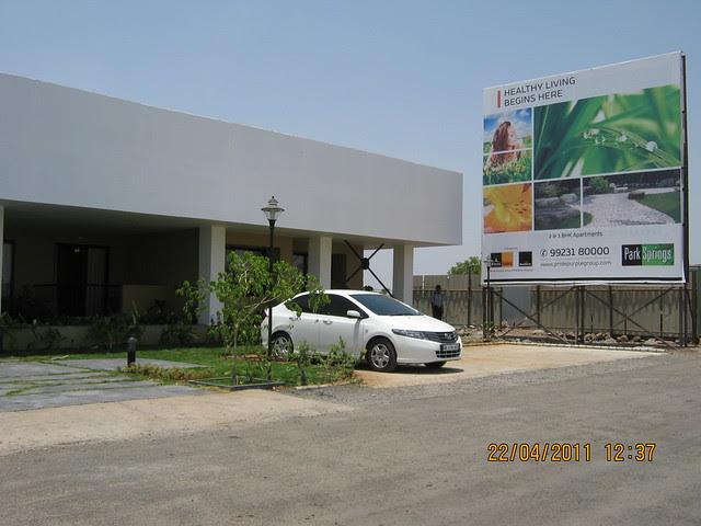 Booking office of Park Springs - 2 BHK - 3 BHK Flats - Lohegaon Gram Panchayat - Dhanori - Pune 411 032 - By Pride Purple Group & Rainbow Housing