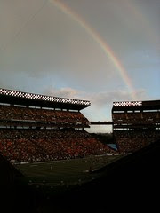 Rainbow at the stadium