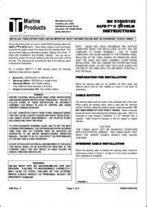 Manuals for Teleflex Engine Control Equipment - MARINE