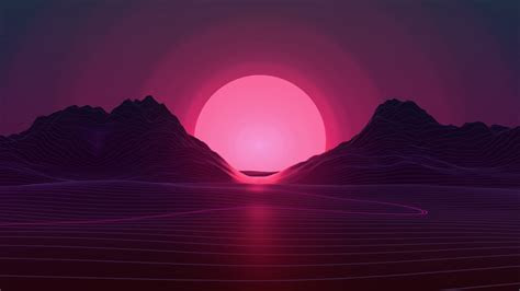wallpaper sunset neon pink  creative graphics  wallpaper  iphone android