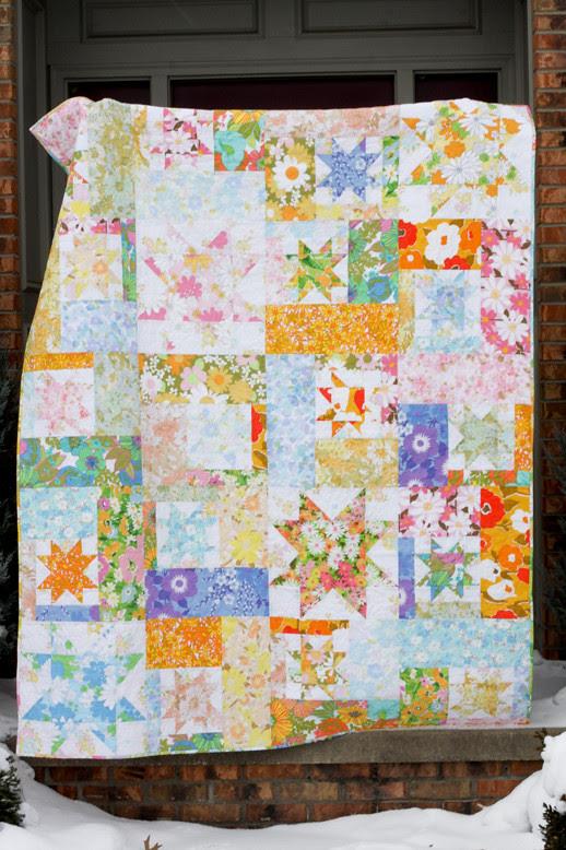 Vintage Sheet Quilt