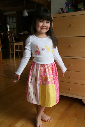 Dova shirt and skirt