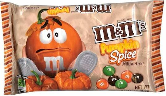 Image result for pumpkin spice m&ms