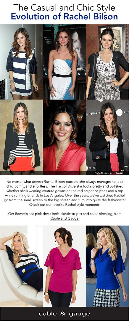 No matter what actress Rachel Bilson puts on, she always manages to look chic, comfy, and effortless. -- The Casual and Chic Style Evolution of Rachel Bilson