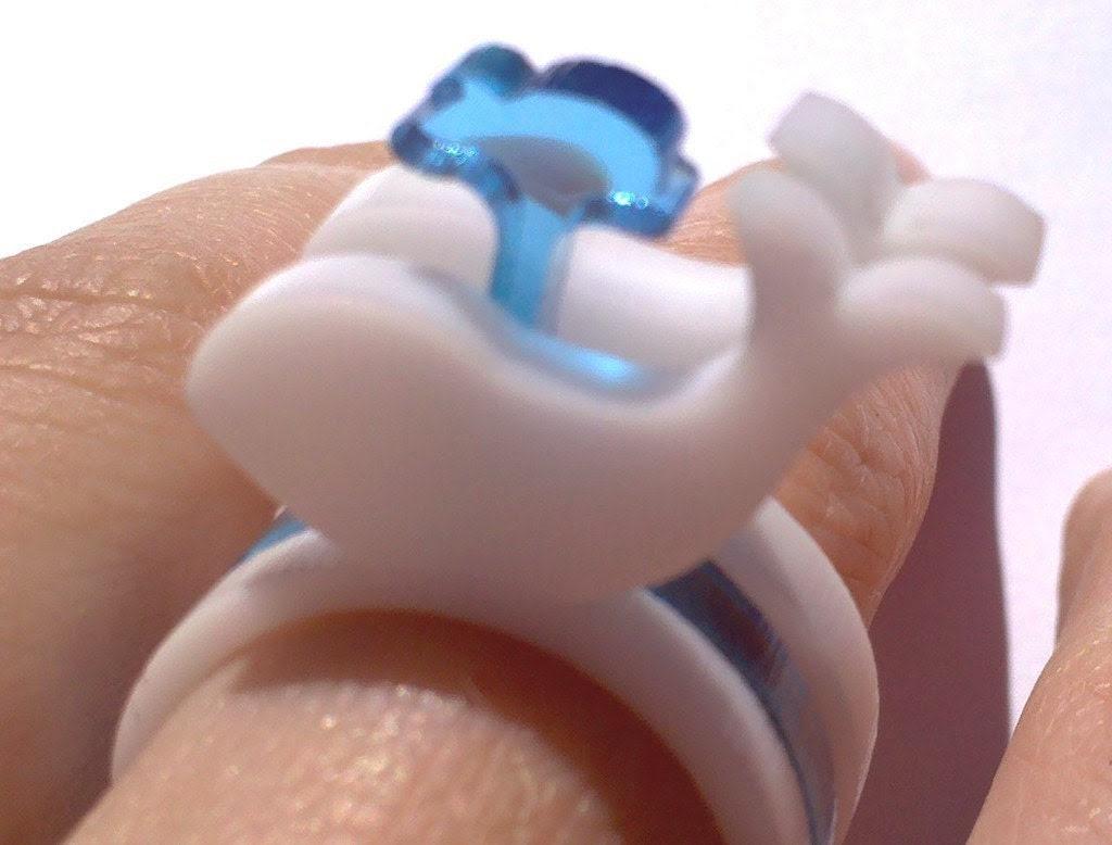 White Whale Lasercut Acrylic Ring Set