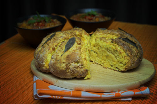 Pumpkin damper with parmesan & sage