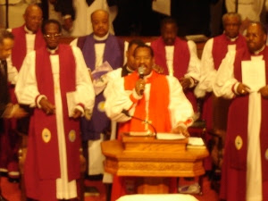 Bishop Charles E. Blake speaking at Bishop Walker Homecoming