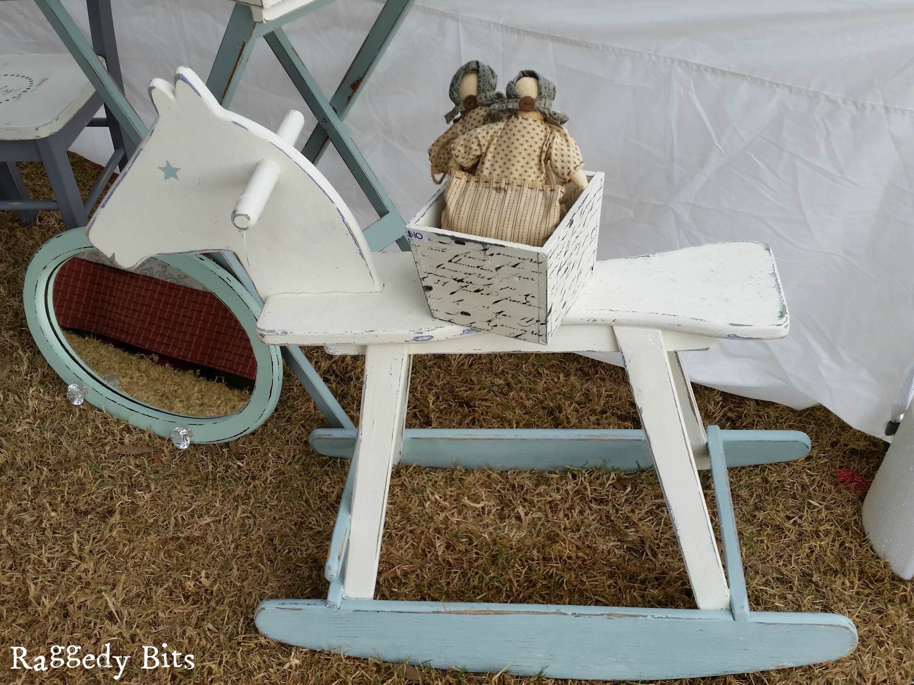 After seeing this little guy on an online garage sale I knew he needed to be saved! See how I gave him a fresh new Rocking Horse Makeover | www.raggedy-bits.com