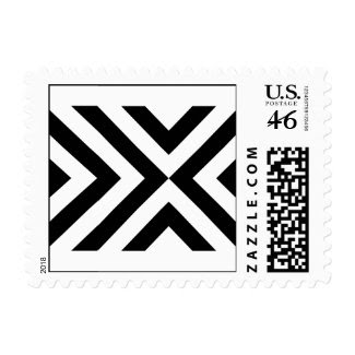 Black and White Chevrons Stamp