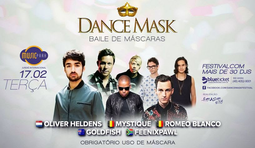 Dance Mask promete encerrar em grande estilo o Carnaval do Music Park