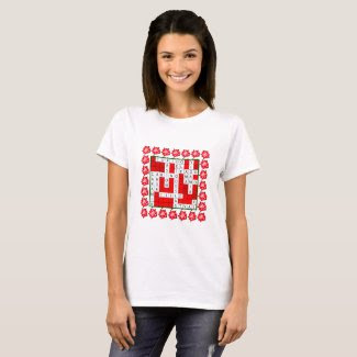 Love Crossword in Spanish on Women's T-Shirt