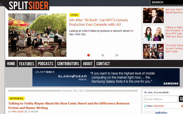 split slider website magazine layouts inspiration