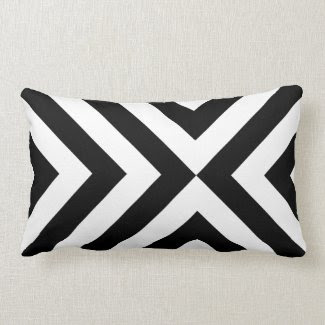 Black and White Chevrons Throw Pillows