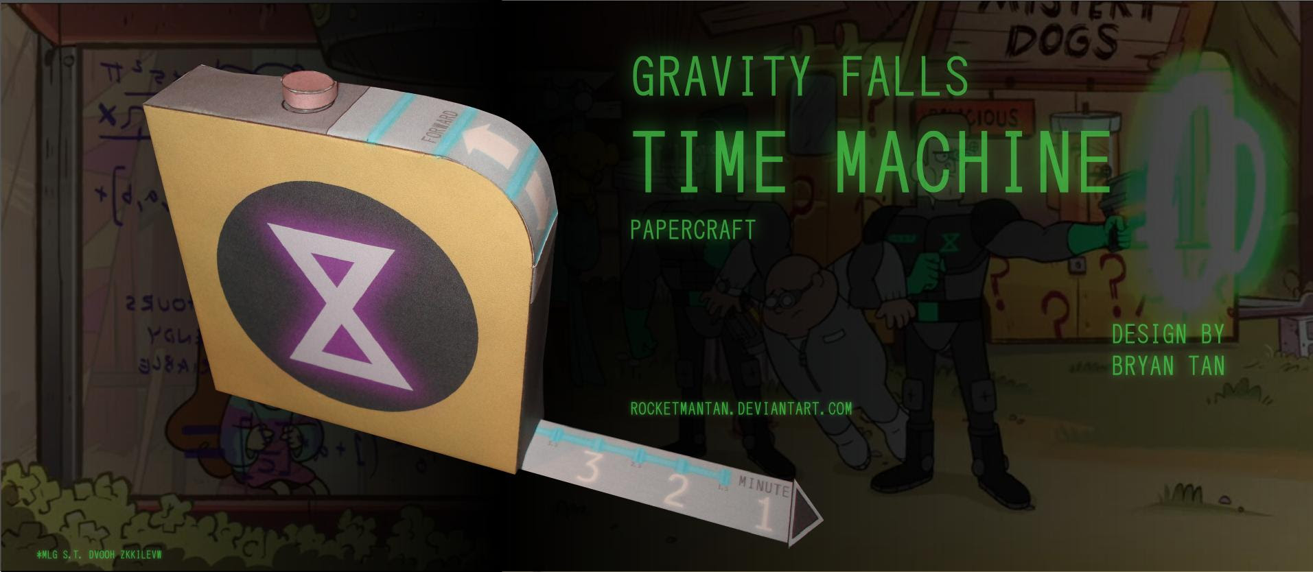 Gravity Falls Papercraft Time Machine