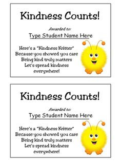 Kindness Counts Award - Good Character Traits | To be, Follow me ...