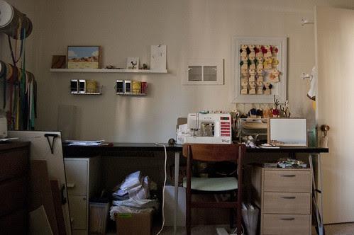work room, north wall