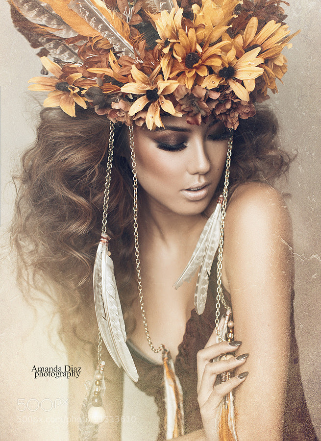 portrete feminine superbe cu coronite din flori poze fotografii imagini 500px.com arta fotografica senzationale postare blog
