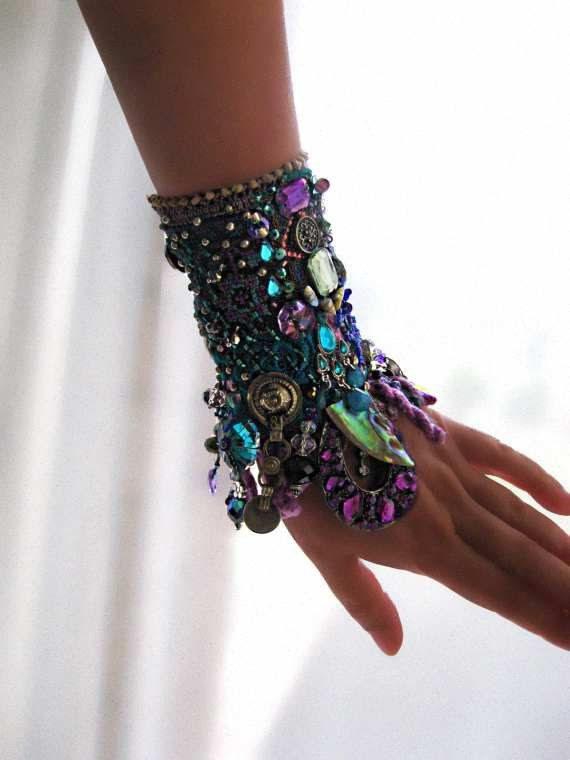 Cool Mystique Gypsy Jangle Bracelet Heavily by AllThingsPretty