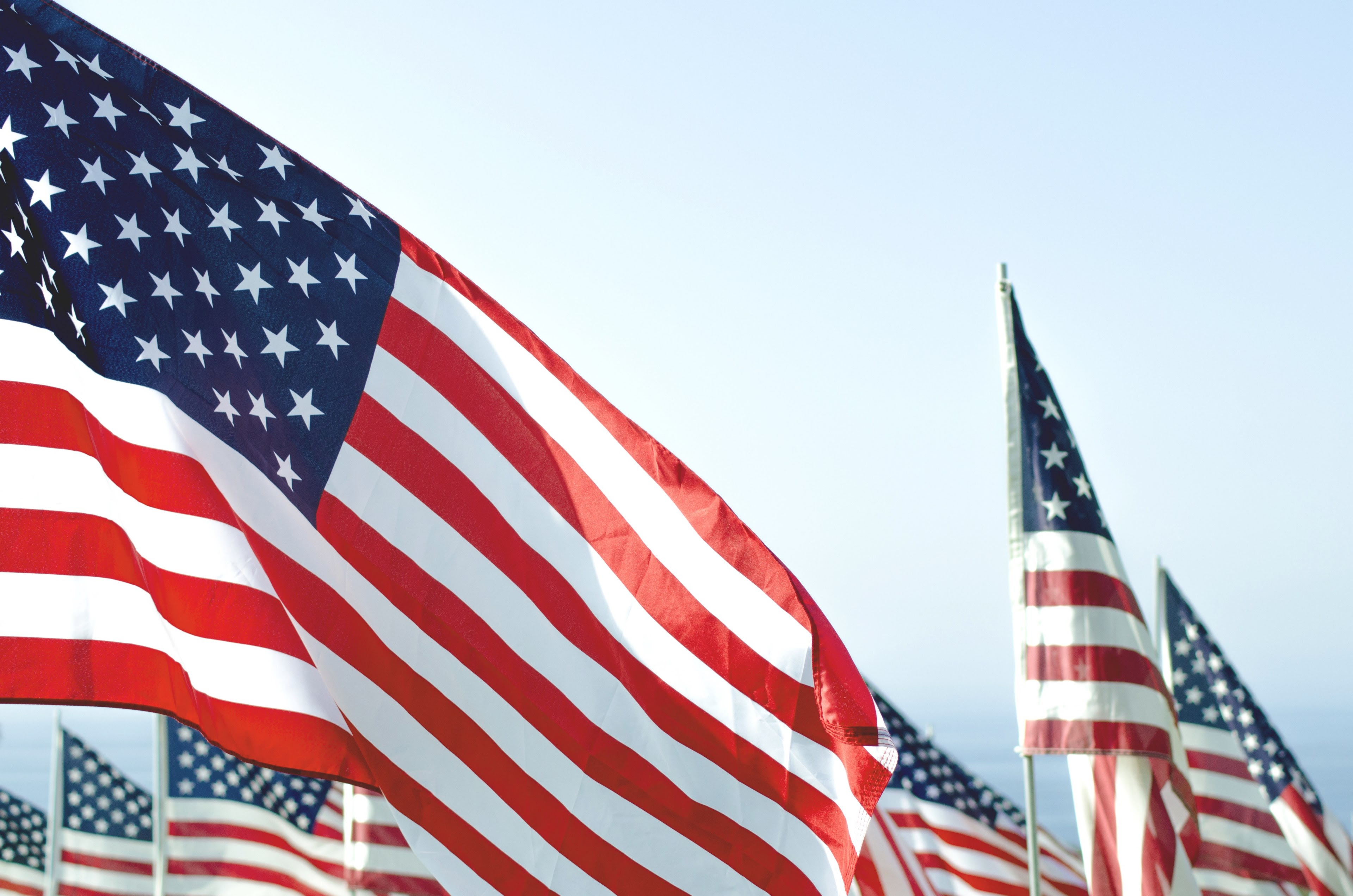 Flag United States America And Flagpole Hd 4k Wallpaper And Background