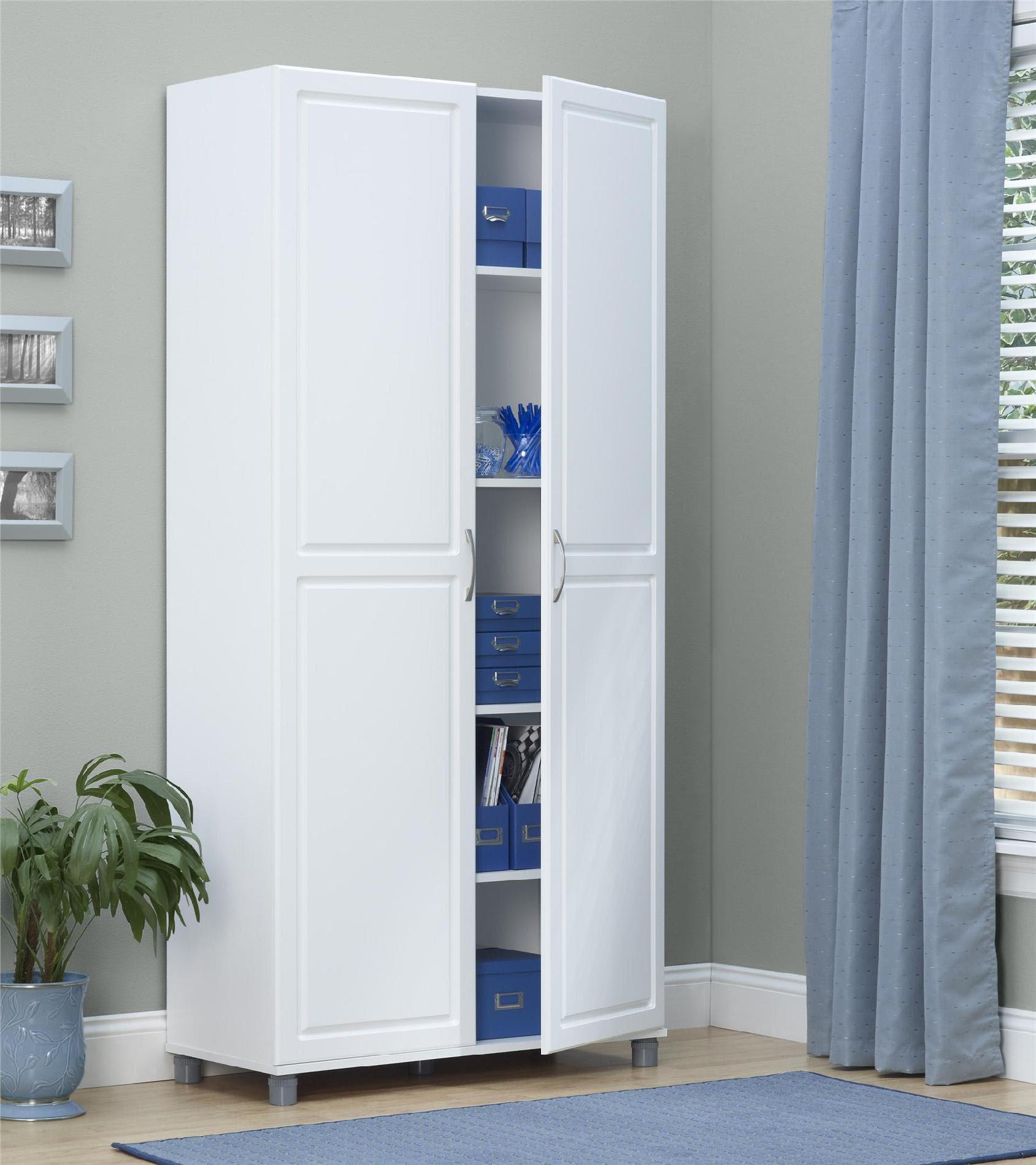 "Dorel Kendall 36"" White Utility Storage Cabinet"