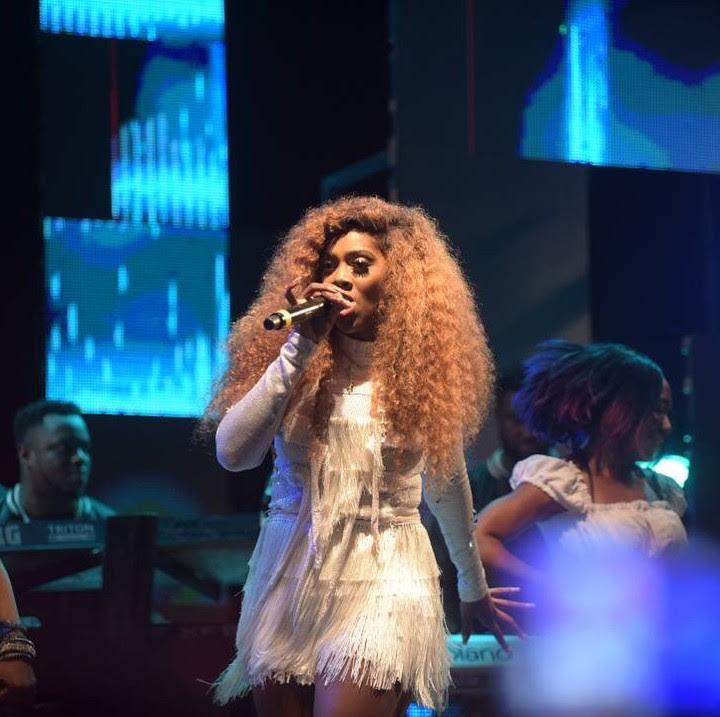 tiwa savage performing at wizkid show