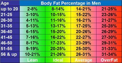 body fat percentage calculator goal