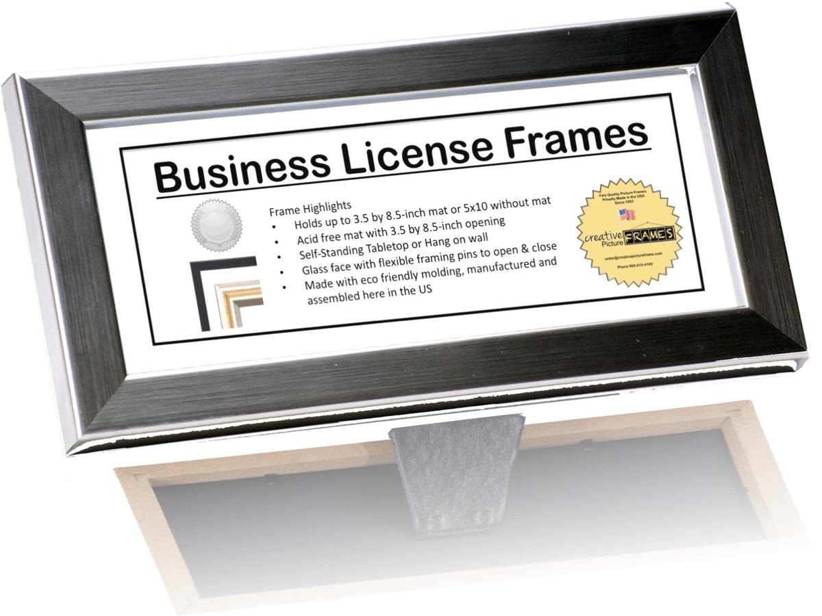 35x85 License Frame With Mat Creativepictureframescom