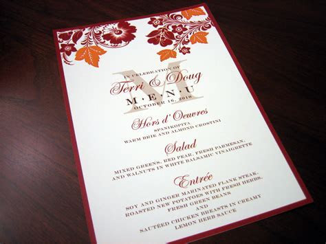 red and orange wedding invitation ? A Vibrant Wedding