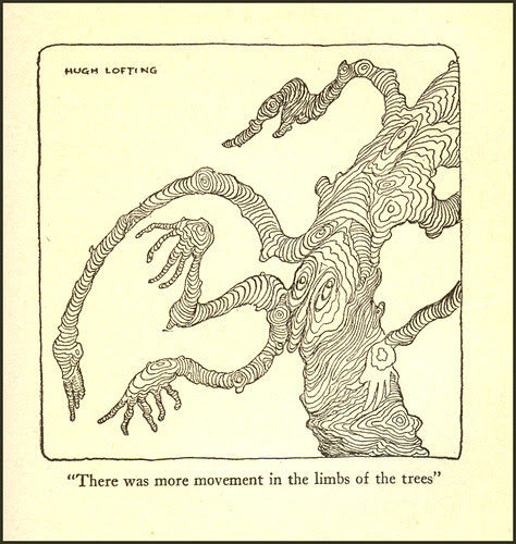There was more movement in the limbs of the trees