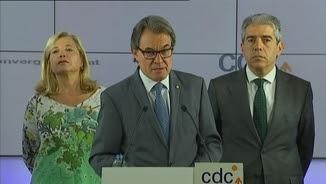 Compareixença de Mas, Homs, Ortega, Rigau i Trias per reclamar que es faci justícia