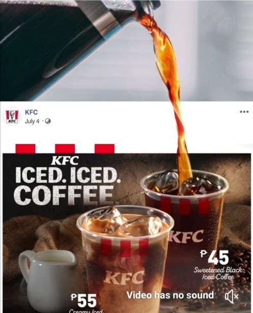 Perk up your day with the new KFC iced coffee.