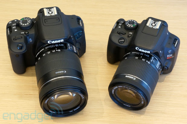 Canon unveils EOS Rebel SL1, the world's smallest DSLR, and Rebel T5i handson video