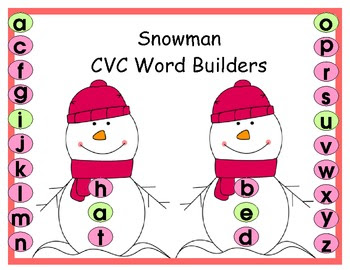 Snowmen CVC Word Builders