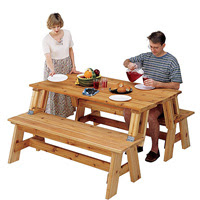 Picnic Table and Bench Combo Plan