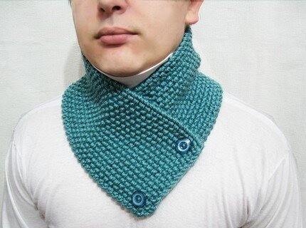 knitted scarf  neckwarmer scarflette cowl chunky