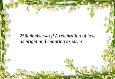 25th Wedding Anniversary Cards