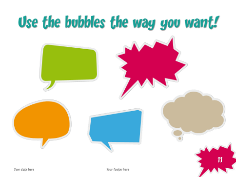 Speech Bubbles – Free Template for PowerPoint and Impress
