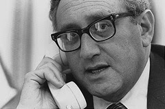 Il segretario di Stato americano Henry Kissinger