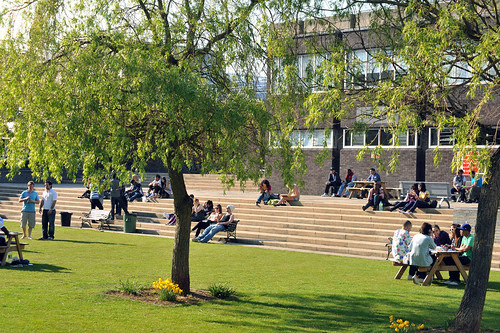 Brunel University campus – the quad by Brunel University, on Flickr