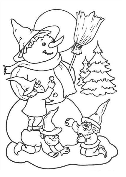 Coloriages De Noël Père Noël Elfes Rennes Lutins