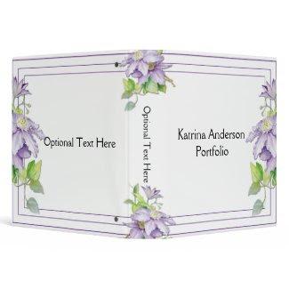 Purple Clematis Avery Binder